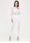 Tied Finish Lace-Up Skinny Pants