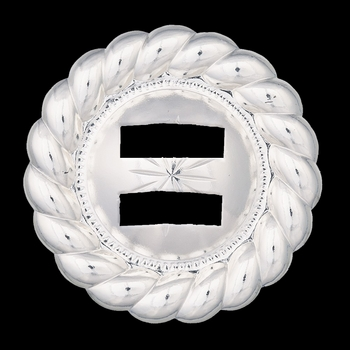 """1 1\/2\"""" Twisted Rope Trim Starburst Concho with Slots (C104-S)"""