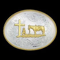 1350 Series Christian Cowboy Western Belt Buckle (1350-731)