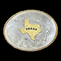 1350 Series German Silver State of Texas Belt Buckle (G1350-610TX)