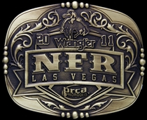 2011 National Finals Rodeo Buckle 4 by Montana Silversmiths