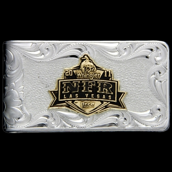 2011 WNFR Antiqued Gold Emblem Moneyclip (NFRMCL11)