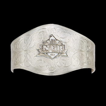 2011 WNFR Engraved Silver Cuff Bracelet (NFRCF11)
