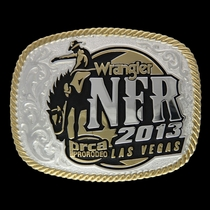 2013 WNFR Silver Cast Buckle (NFR313)