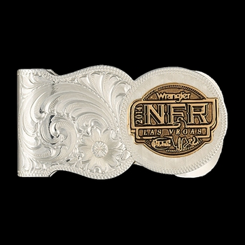 2014 WNFR Scalloped Money Clip (NFRMCL114)