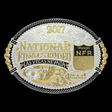 2017 WNFR Shield Oval Buckle