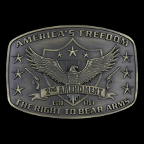 2nd Amendment Heritage Attitude Buckle (A272)