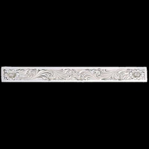 """5\"""" Clear Edge Engraved Silver Brow Band Plate (BB25)"""
