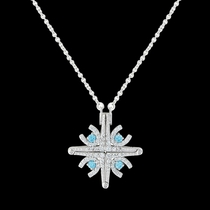 A Walk in Winter Horseshoe Convertible Necklace (NC3379)