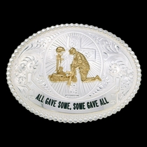All Gave Some Some Gave All Western Belt Buckle (12011)
