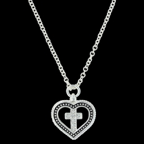 All You Need is Faith & Love Heart Necklace (NC3409)