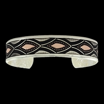 Along the Rivers Edge Rose Gold Cuff Bracelet (BC3340RG)