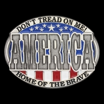 America Home of the Brave Attitude Buckle (A601)