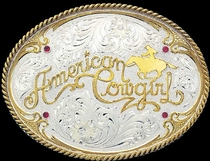 American Cowgirl Belt Buckle