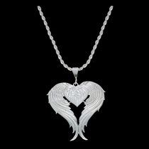 Angel Heart Silver Necklace (NC1129)