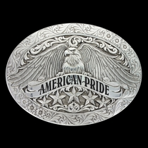 Antiqued American Pride Buckle (6198RTS)