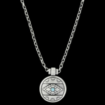 Antiqued Aztec Eyes Necklace Attitude Jewelry (ANC3450)