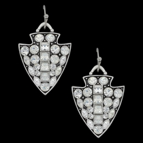 Antiqued Glam Arrowhead Earrings Attitude Jewelry (AER3477)
