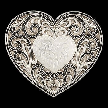 Antiqued Heart Whispers Buckle  (27400)