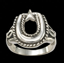Antiqued Horseshoe Ring by Montana Silversmiths