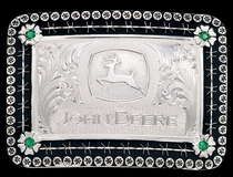 Antiqued John Deere Belt Buckle