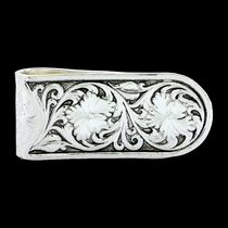 Antiqued Sheridan Rose Money Clip (MCL26RTS)