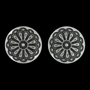 Antiqued Sunflower Post Earrings Attitude Jewelry (AER3347)