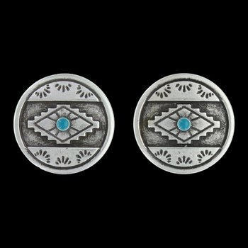 Antiques Aztec Eyes Post Earrings Attitude Jewelry (AER3449)