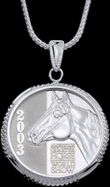 AQHA 2003 World Show Coin Necklace