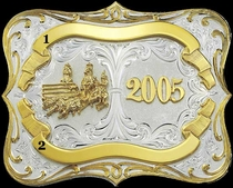 Award Buckle 3202 by Montana Silversmiths