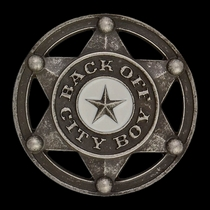 Back Off City Boy Kid's Attitude Buckle (A414)