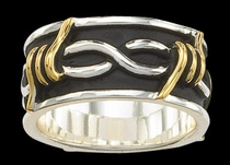 Barbed Wire Ring by Montana Silversmiths