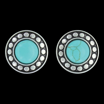 Beaded Button Post Earrings Attitude Jewelry (AER3454)