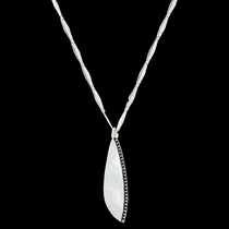 Beaded Plume Feather Necklace (NC3282)