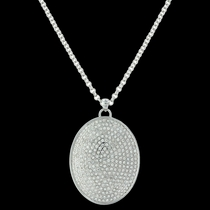 Beyond Shine Pave Necklace Attitude Jewelry (ANC3461)