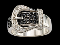 Black Crystal Ring by Montana Silversmiths