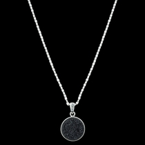 Black Druzy Glimmer Necklace Attitude Jewelry (ANC3459)