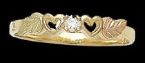 Black Hills Gold Diamond Heart Ring | Landstrom's 02840X-5