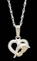 Black Hills Gold Dolphin Necklace | Landstrom's 03536-SS