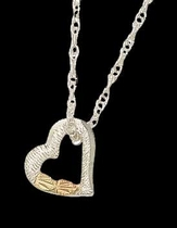 Black Hills Gold Floating Heart Necklace | Landstrom's 03013-SS