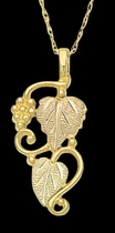 Black Hills Gold Grape & Leaf Pendant - Landstrom's 03226