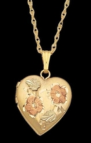 Black Hills Gold Heart Locket #2 - Landstrom's 03316