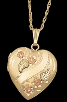 Black Hills Gold Heart Locket - Landstrom's 03315