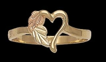 Black Hills Gold Heart Ring 3 | Landstrom's 02262