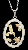 Black Hills Gold Hummingbird Necklace 1 | Landstrom's 03596-SS