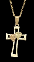 Black Hills Gold Open Cross Necklace | Landstrom's 03375/10K