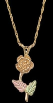 Black Hills Gold Rose Necklace | Landstrom's E378