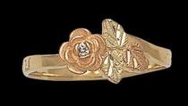 Black Hills Gold Rose Ring with Diamond 2 | Landstrom's 02260X