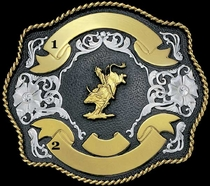 Black Trophy Buckle 60848 by Montana Silversmiths