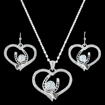 Blacksmith's Treasure Heart Jewelry Set (JS3215)
